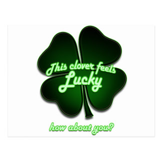 This clover feels lucky, how about you? postcard