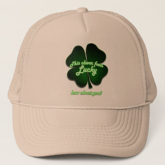 This clover feels lucky, how about you? trucker hat