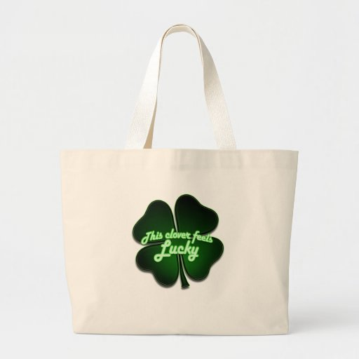 This clover feels lucky too bags