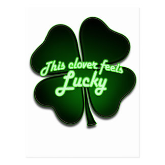 This clover feels lucky too postcard