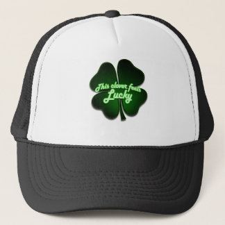 This clover feels lucky too trucker hat
