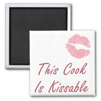 This Cook is Kissable 2 Inch Square Magnet