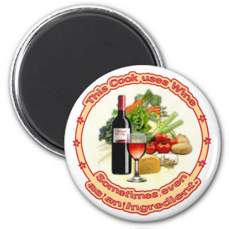 This Cook uses Wine 2 Inch Round Magnet