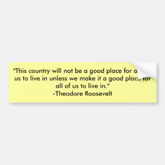 """""""This country will not be a good place for any ... Car Bumper Sticker"""
