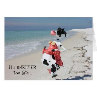 This cow always tries to enCOWrage UDDERS! Card