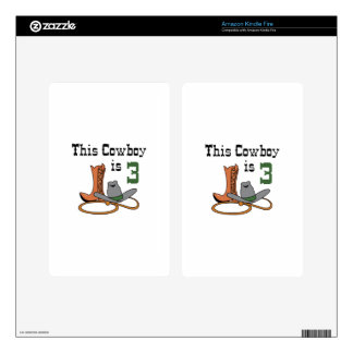 THIS COWBOY IS THREE DECALS FOR KINDLE FIRE