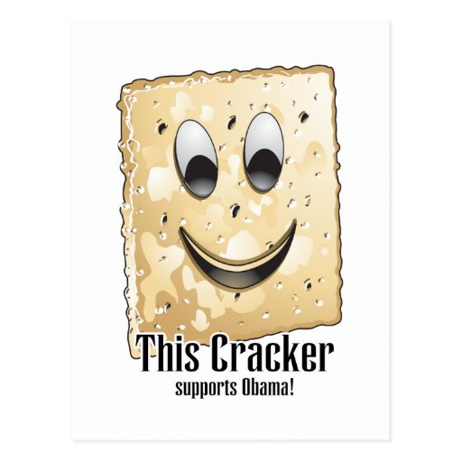 This Cracker supports Obama Postcard