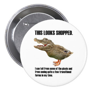 This Crocoduck Looks Shopped Button