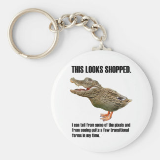 This Crocoduck Looks Shopped Keychain