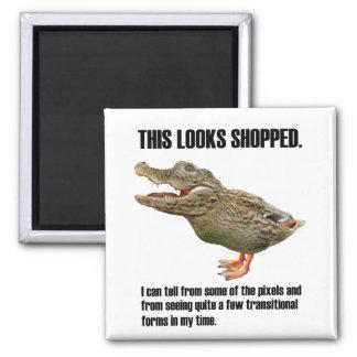 This Crocoduck Looks Shopped Fridge Magnet
