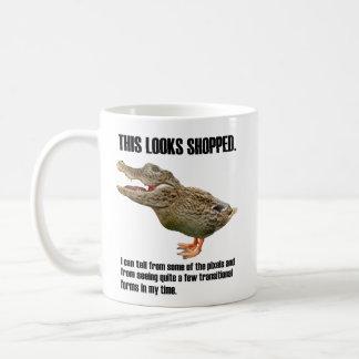 This Crocoduck Looks Shopped Coffee Mug
