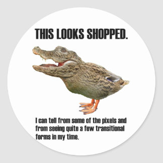 This Crocoduck Looks Shopped Sticker