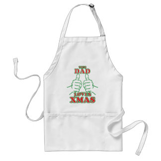 This Dad Loves XMAS Adult Apron