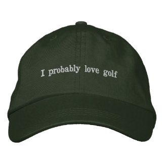 This Dad probably loves golf Embroidered Baseball Cap