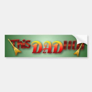 This Dad Rocks! Bumper Sticker Car Bumper Sticker