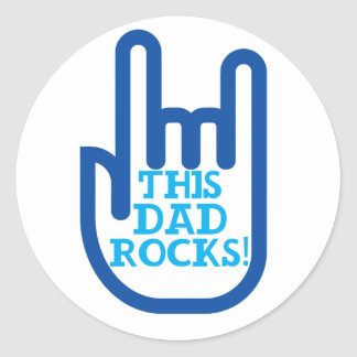 This Dad Rocks! Classic Round Sticker