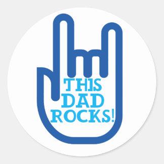 This Dad Rocks! Classic Round Sticker