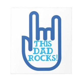 This Dad Rocks! Notepad