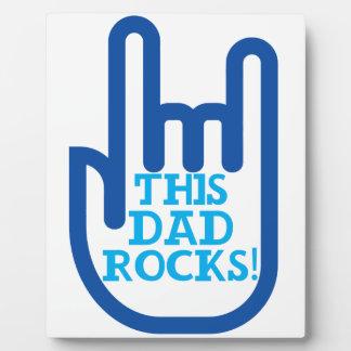 This Dad Rocks! Plaque