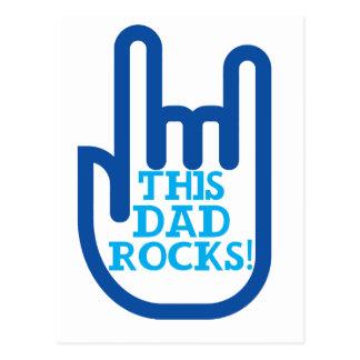 This Dad Rocks! Postcard