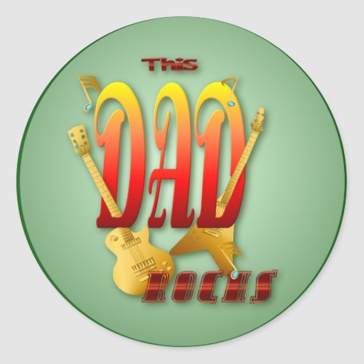 This Dad Rocks! Stickers