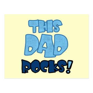This Dad Rocks Tshirts and Gifts Postcard