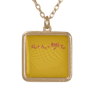 This design is the general relativity formula over gold plated necklace