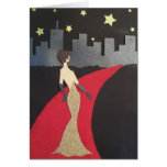 This design will always make you feel glamorous! greeting card