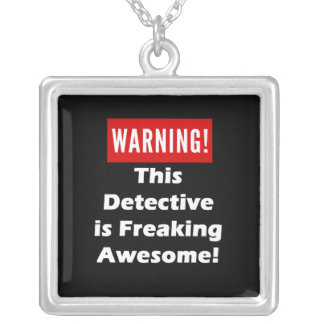 This Detective is Freaking Awesome! Square Pendant Necklace