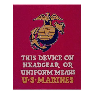 This Device Means U.S. Marines Poster