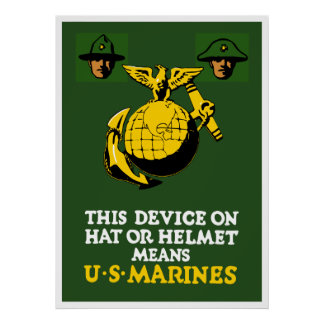 This Device Means US Marines Print