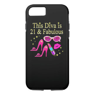THIS DIVA IS 21 AND FABULOUS DESIGN iPhone 8/7 CASE