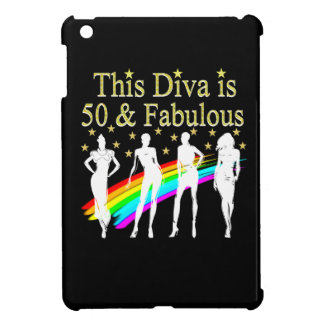 THIS DIVA IS 50 AND FABULOUS 50TH BIRTHDAY iPad MINI COVER