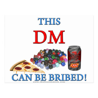 This DM Can Be Bribed Postcard