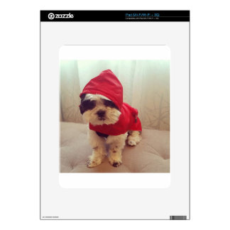 This dog hates rain iPad skins