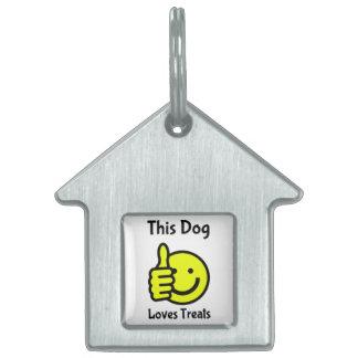 This Dog Likes Treats Smiley Face Dog House Tag