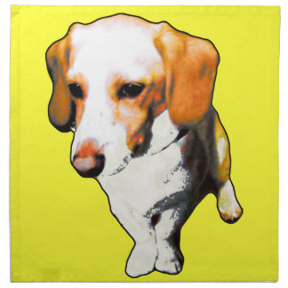 """this dog typical longevity of Beagles named """"cooki Cloth Napkin"""