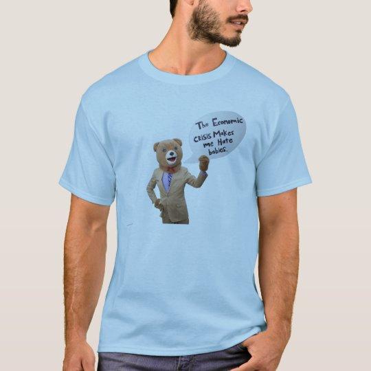 """""""This economic crisis..."""" - Men's T-Shirt"""