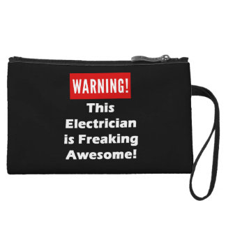 This Electrician is Freaking Awesome! Wristlet
