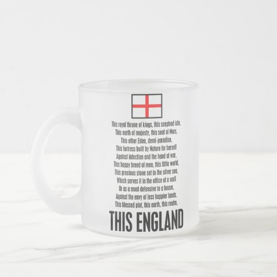 This England Frosted Glass Coffee Mug