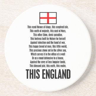 This England Sandstone Coaster