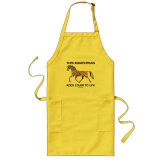 This Equestrian Adds Color To Life (Color Swirl) Long Apron