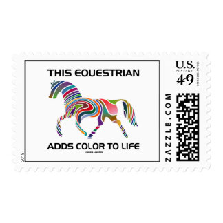 This Equestrian Adds Color To Life (Color Swirl) Postage