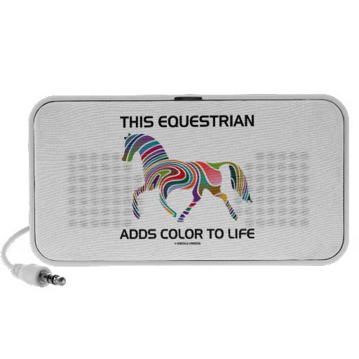 This Equestrian Adds Color To Life (Color Swirl) Mini Speakers