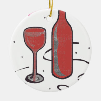 THIS EVENING It IS FÊTE.png Ceramic Ornament