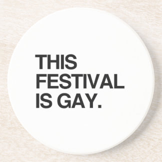 This festival is gay beverage coasters