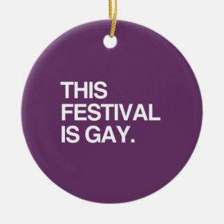 This festival is gay christmas tree ornaments