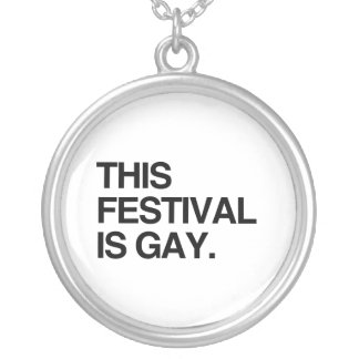 This festival is gay custom necklace