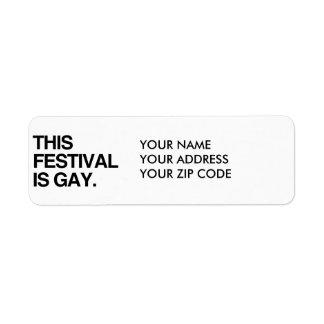 This festival is gay custom return address labels