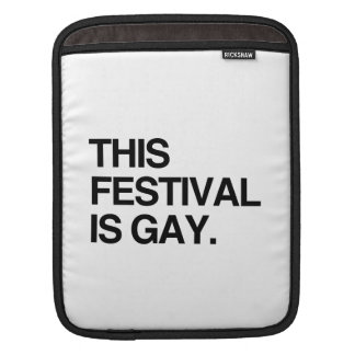 This festival is gay iPad sleeves